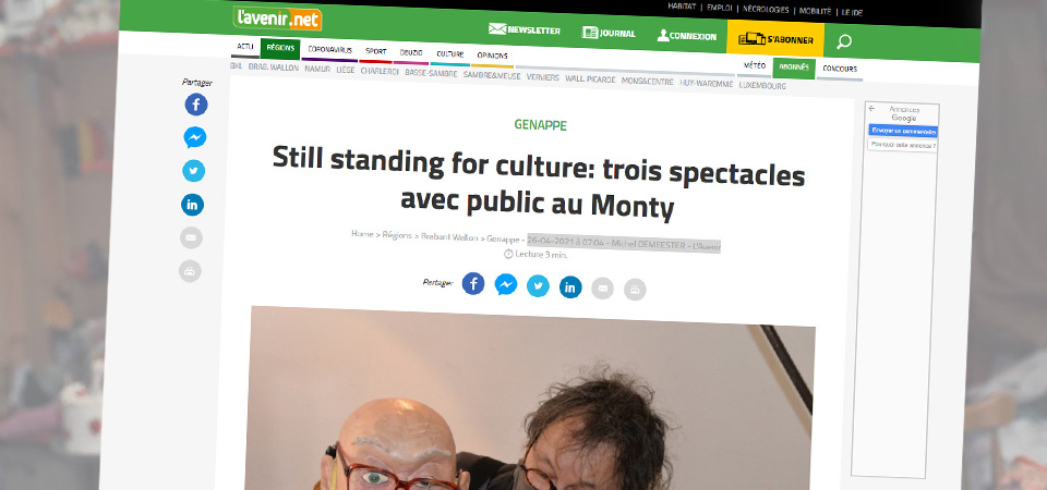 Still standing for culture: trois spectacles avec public au Monty