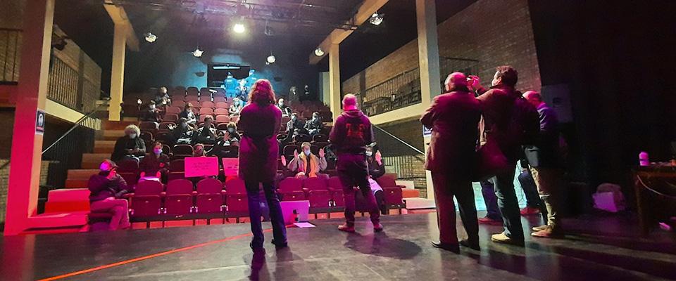 Le Monty voulait présenter le spectacle de l'artiste Lucie Yerlès ce vendredi soir. La police a empêché qu'il puisse se dérouler.